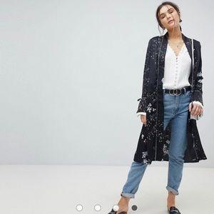 Black Floral Kimono Jacket (ASOS)